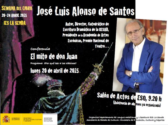 Cartel encuentro con J.L. Alonso de Santos