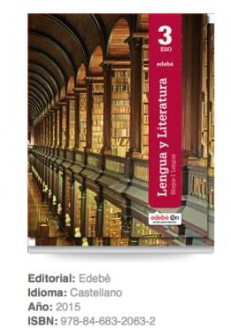 Libros Lengua 3º ESO Edebé
